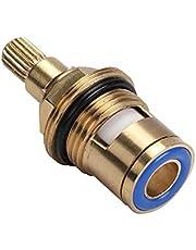 """Vervangend messing keramische kraanventiel insteekschroefverbinding Cartridge Quarter Turn Universal 1/2 """"binnenkraanventiel voor badkamer keukenkraan (blauw)"""