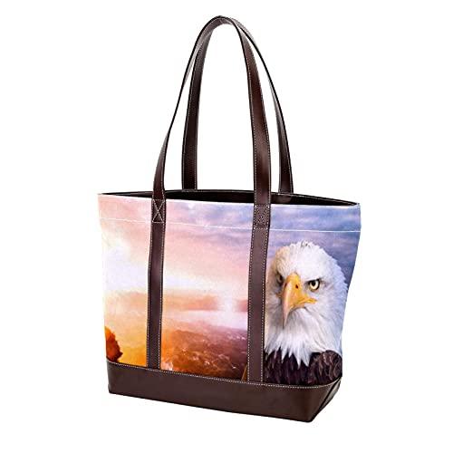 NaiiaN Bolsos de hombro Hawk Tote Bag Bolsos con correa de peso ligero para madres, mujeres, niñas, señoras, monedero para estudiantes, compras