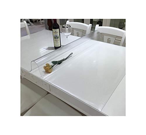 Cheryl Norri Wasserdicht Tisch Tischtuch mit Muster Küche PVC Tischdecke Öl-Stoff Weich Glass Tischdecke 1,0 mm Starke, transparente Tischdecke, Frosted Muster, 90X137Cm
