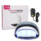 Lámpara de uñas, lámpara de gel UV Secador de esmalte de uñas Fuente de luz dual Tiempo de sincronización Memoria 120W 100‑240V(EU)