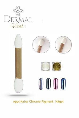 Chrome Lot de 25 Pigment Applicateur pour effet miroir ongles Nail Art by Dermal Vital