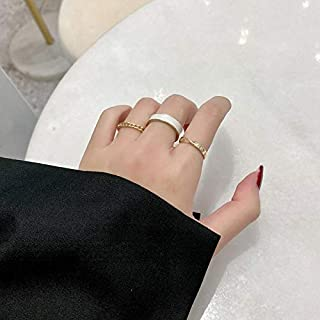 YERTTER Set of 3 Gothic Vintage Ring Set Half Open Finger Ring Punk Stackable Knuckle Ring for Women or Men