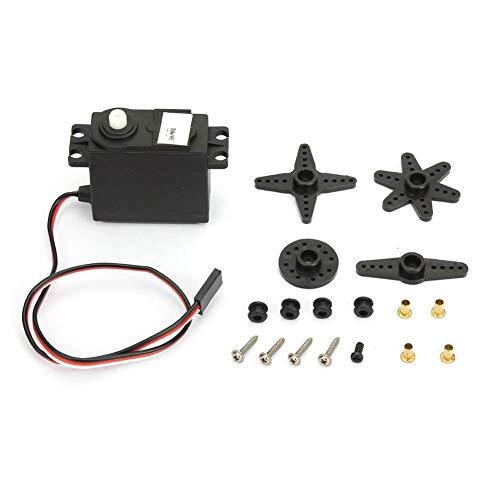 360 Grad Servomotor,DS04-NFC 360 Grad stufenlos rotierendes DC Servo Servo DC Getriebemotor mit kontinuierlicher Drehung für RC Roboter usw,Stromverbrauch<1000mA,Drehmoment 5,5 kg/cm (bei 4,8 V)