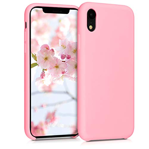 kwmobile TPU Silicone Case Compatible with Apple iPhone XR - Soft Flexible Rubber Protective Cover - Light Pink