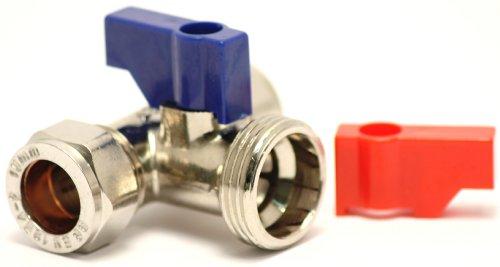 Plumb-Pak kraan-T-aansluitstuk voor wasmachine/vaatwasser, 15 mm x 15 mm x 19 mm (3/4 inch)