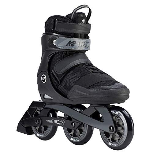 K2 Herren Inline Skates TRIO 110 M - Schwarz-Grau - EU: 42 (US: 9 - UK: 8) - 30D0170.1.1.090