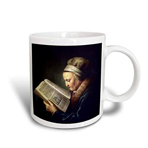 N\A Anciana Leyendo un leccionario Rembrandt Madre C 1630 por Gerard Dou Taza de cerámica