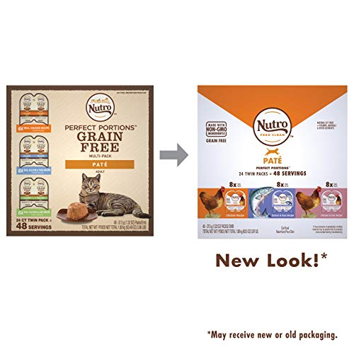 NUTRO PERFECT PORTIONS Grain Free Natural Adult Wet Cat Food Paté Real Chicken,...