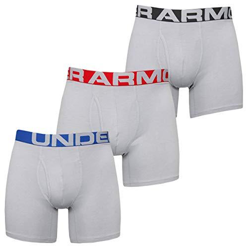 Under Armour Herren Elastische Und Schnelltrocknende Boxershorts, -3-er-Pack, Mod Gray Medium Heather / Mod Gray Medium Heather (011), LG, 1363617-011
