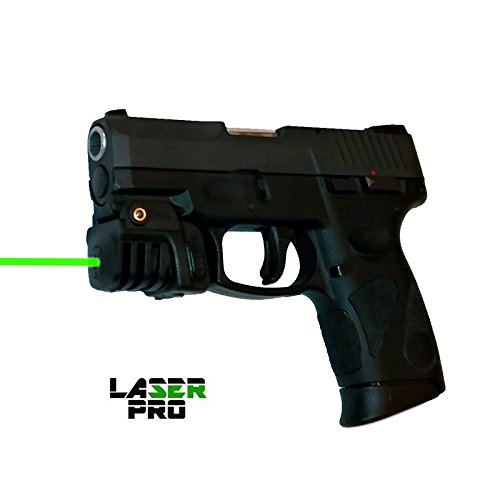 LASERPRO Green Rechargeable Laser Sight for Taurus G2 G2C G2S G3 G3c & Compact Guns & Pistols w/a Rail - Micro USB Charger