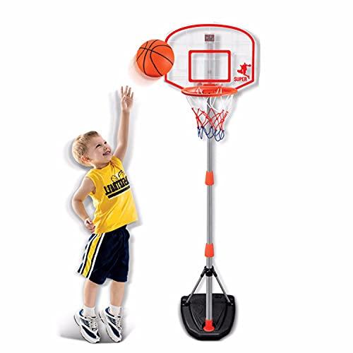 TTHH Cancha de Baloncesto portátil para Exteriores, Marcador electrónico portátil para niños, diseño de Altura Ajustable hasta 65 Pulgadas, Tablero de 16 Pulgadas, cancha de Baloncesto para Adultos