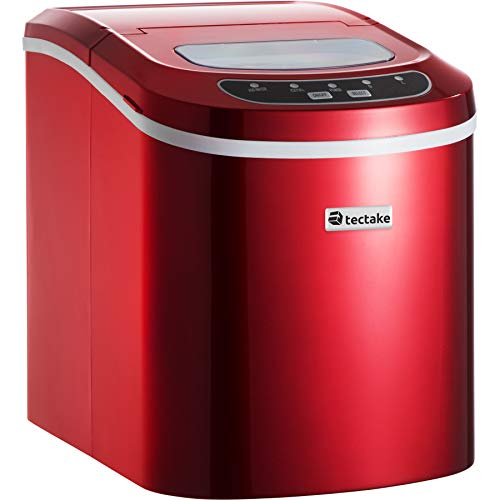 TecTake MÁQUINA DE CUBITOS DISPENSADOR DE CUBITOS PROFESIONAL - disponible en diferentes colores - (Rojo | No. 400475)