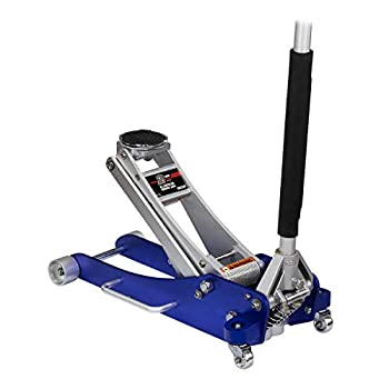 Arcan 2-Ton Quick Rise Aluminum Floor Jack with Dual Pump Pistons & Reinforced Lifting Arm  A20017 / ALJ2T