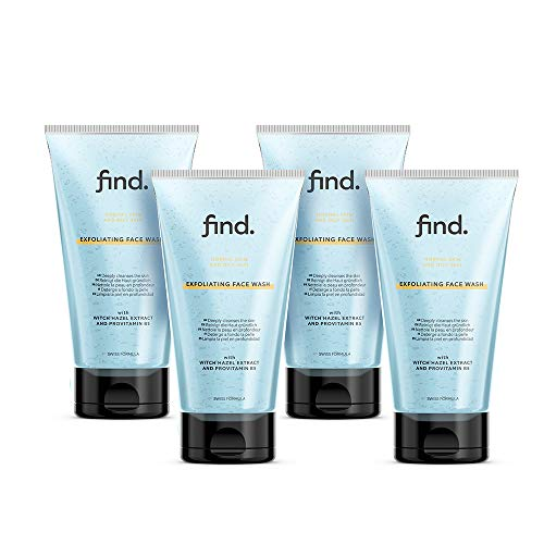 FIND - Limpiador facial exfoliante para piel normal y grasa (4x 150 ml)