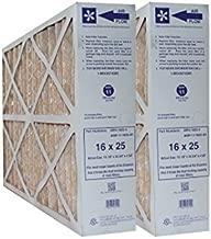 16x25x4 Lennox/Honeywell Replacement AC Furnace Air Filters MERV 11 (Pack of 2)
