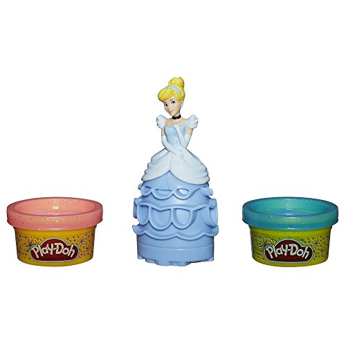 Play Doh Stempelset Cinderella - Stempelfigur mit 2 kleinen Glitzerknetdosen
