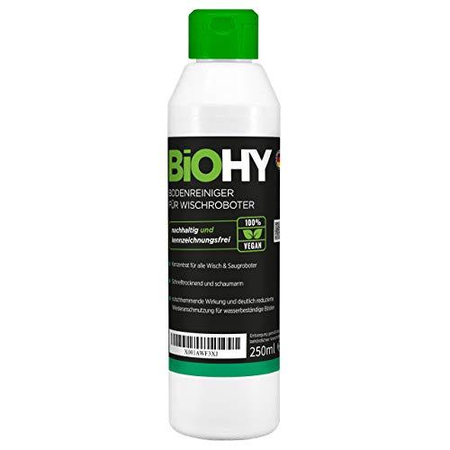 BiOHY Limpiador pisos para robots limpiadores (1 botella de 250ml) | Concentrado para todos robot aspirador con función húmeda - sostenible y ecológico (Reiniger für Wischroboter)