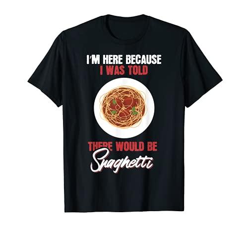 Camiseta de regalo para entusiastas de los espaguetis de la comida Camiseta