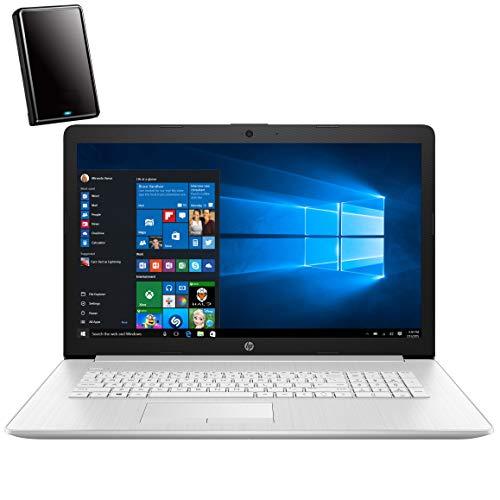 HP 17 17.3' FHD Laptop Computer, Intel Core i5 10210U Up to 4.2GHz (Beat i7-7500U), 12GB DDR4 RAM, 1TB HDD, DVDRW, AC WiFi, Remote Work, Backlit Keyboard, Windows 10, iPuzzle 500GB External Hard Drive