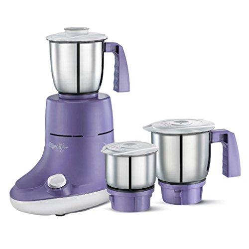 Pigeon by Stovekraft Viola-3SS 550-Watt Mixer Grinder with 3 Jars (Purple)
