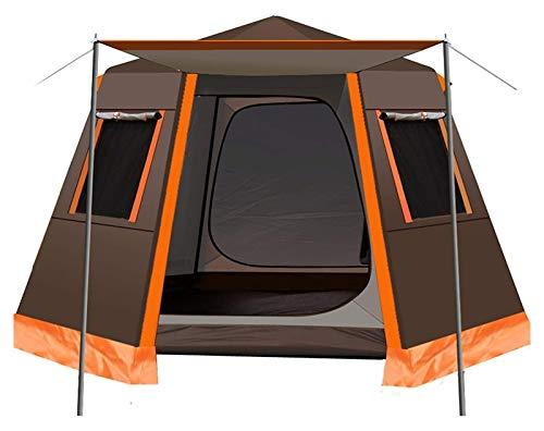pwmunf Tienda de campaña para Acampar al Aire Libre Configurar fácilmente Playa Plegable portátil Viajando Senderismo Sombrilla de Sol Impermeable (Color : Brown, Size : 330x330x198cm)
