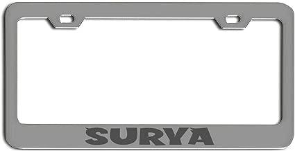 Poloran Surya Zinc Metal Custom Made Last Name Surname Personalized Last Name Plate Nickname Tag Laser Engraved