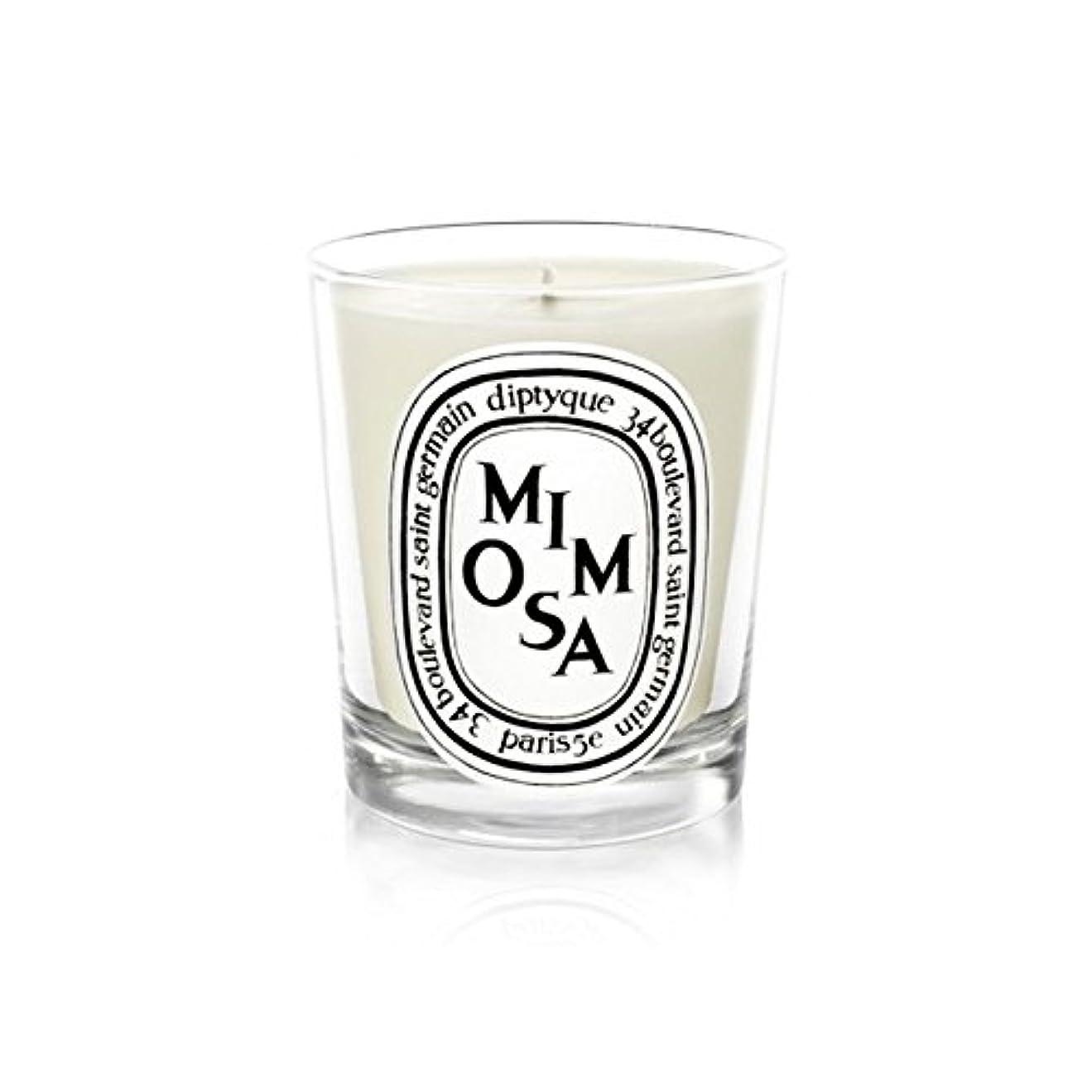 ポンペイ覗く死すべきDiptyqueキャンドルミモザ/ミモザ190グラム - Diptyque Candle Mimosa / Mimosa 190g (Diptyque) [並行輸入品]