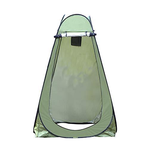 Exnemel Pop Up Tenda de Campanha Portátil, Loja de Privacidade Emergência Dobrável Automática Ao Ar Livre para Ducha, Pesca (Verde con 2 Ventanas)