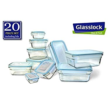New Snaplock Lid: Tempered Glasslock Storage Containers 20pc set~Microwave & Oven Safe