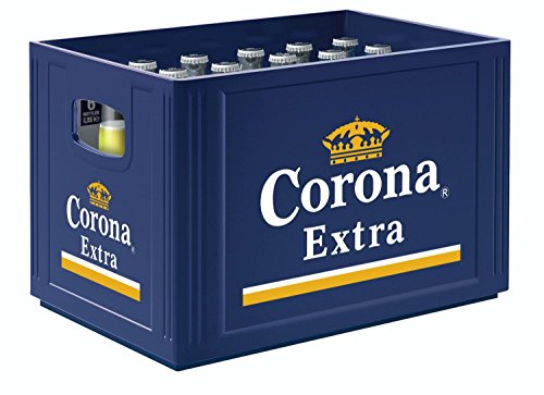 24 x Corona Extra Premium Lager Bier 0,355 L 4,5{277d8be943a78e5c6e33762beeaebdad7b042fd69290aecad0143bbc439260bd} vol. Originalkiste
