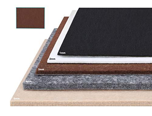 Besbuy Hojas de Fieltro con Respaldo de Adhesivo, 8 Piezas, Grosor 1 mm-5 mm, para Cojines para Muebles Arts Crafts Multiuso (marrón 15 × 20 cm)