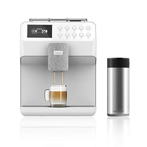 Cecotec Macchina da caffè Power Matic-ccino 7000, Serie Bianca.Tecnologia Force Aroma 19 bar a pressione, controlli...
