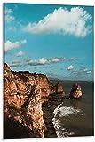 IOIP Imprimir En Lienzo 30x50cm Sin Marco Carteles de decoración de Dormitorio Moderno con impresión de Imagen artística de Pared de Roca de Algarve