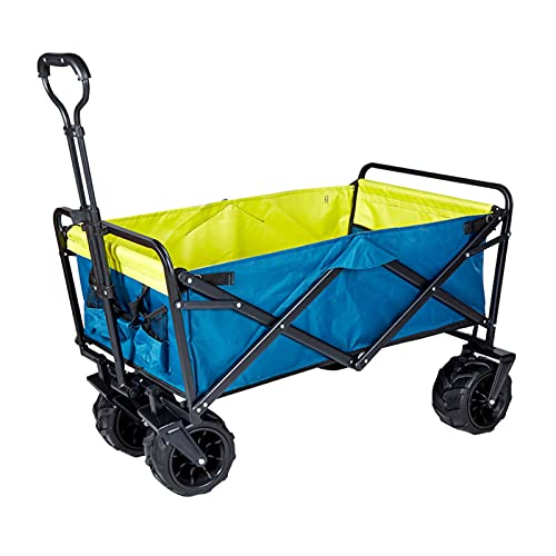 CHILD FENCE Carretilla Plegable, Caretilla con 4 Ruedas, Carro Portátil de Mano Carreta Plegable para Jardín y Aire Libre Playa Camping,D