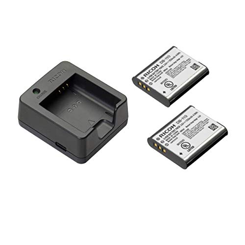 Ricoh BJ-11 Battery Charger with 2X DB-110 Rechargeable Lithium-Ion Batteries for GRIII and WG-6 Digital Cameras GR3
