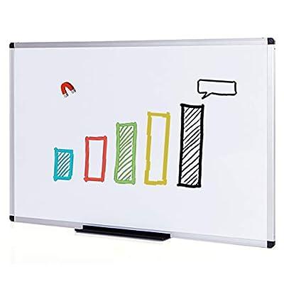 VIZ-PRO Magnetic Dry Erase Board, 24 X 18 Inches, Silver Aluminium Frame