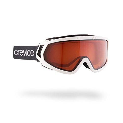 Black Crevice Skibrille Lunettes de Ski Mixte Adulte Taille Unique Blanc
