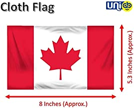 Selling Uniqness Warp-Knitted Polyester Canada Miniature Double Sided Flag Stand in Brass