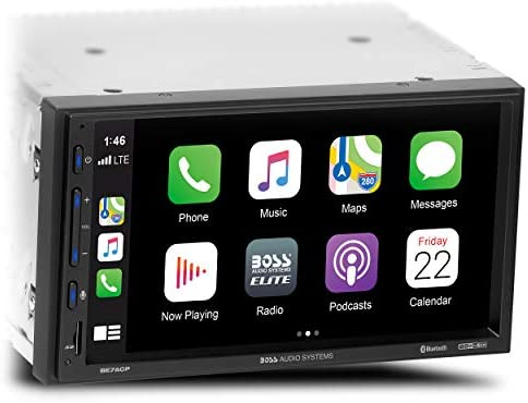 BOSS Audio Systems Elite BE7ACP Car Multimedia Player with Apple CarPlay Android Auto 7 Inch product image