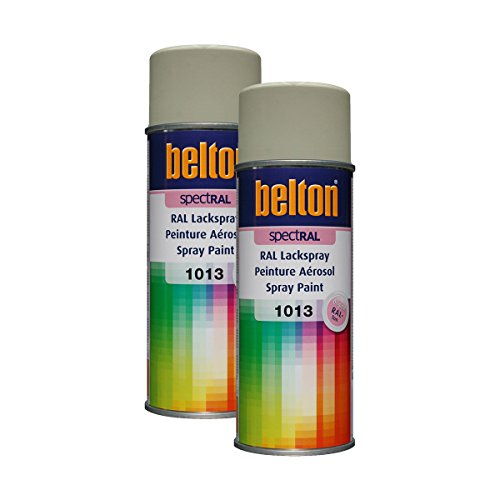 Kwasny Belton Spectral 324 011 Lot de 2 bombes de peinture en spray RAL 1013 Blanc nacré brillant 400 ml