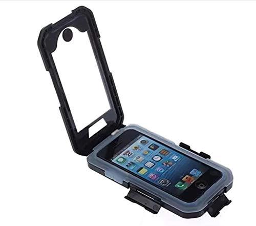 Soporte para Motocicleta Soporte para teléfono, Funda Impermeable con rotación 360, Soporte para iPhone XS 11 Pro MAX XR 5 6 7 8 Plus Soporte para teléfono Bicicleta