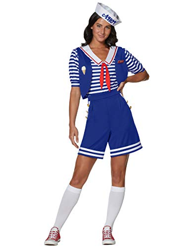 Spirit Halloween Adult Robin Scoops Ahoy Stranger Things Costume   Officially Licensed – L