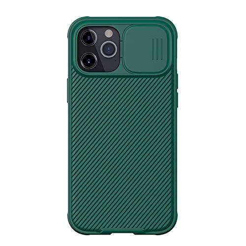 Caja de teléfono móvil, Caja de teléfono móvil Antideslizante a Prueba de Golpes, Dispositivo de protección Resistente Duradero, Adecuado para iPhone 12 Pro MAX (6,7 Pulgadas) (Color : Green)