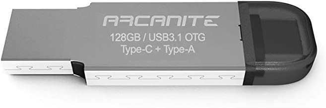 ARCANITE, 128 GB chiavetta USB, USB 3.1 OTG, doppio connettore Type-C + Type-A, velocità di lettura fino a 120 MB/s