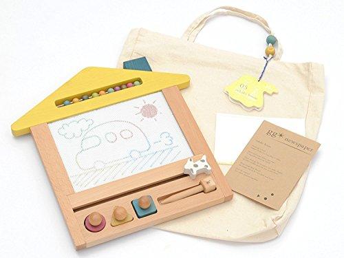 gg*oekakihouse(ジジオエカキハウス)おえかきハウスお絵かきボード木のおもちゃ出産祝いや誕生日プレゼントに!