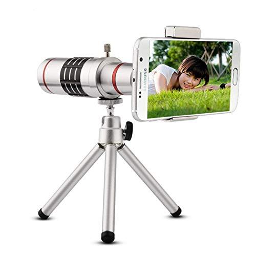 GYTOO 18x Zoom telescopio óptico Teleobjetivo Kit Lentes de cámara del teléfono con trípode para Huawei Samsung Xiaomi