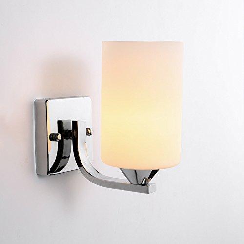 Lámpara de mesilla de noche para dormitorio, salón, dormitorio, pasillo, lámpara de balcón, pasillo, proyecto, cálido, 3 ~ 17 o más, cabeza única con tres LED bombilla de colores