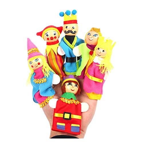 Srfghjs Juguete de Peluche Contar Cuentos de Dedo títeres Tres Cerdos Sirena Castillo Princesa Dibujos Animados Teatro Jugar Juguetes educativos para niños Regalos (Color : The Kings Family)