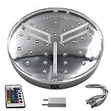 Shisha King® Gran base LED, iluminación para shisha, 16 colores, incluye mando a distancia, batería integrada, 7 horas de autonomía