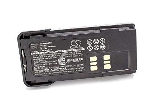 vhbw Li-Ion Akku 1800mAh (7.4V) mit Gürtelclip für Funkgerät, Walkie Talkie wie Motorola PMNN441